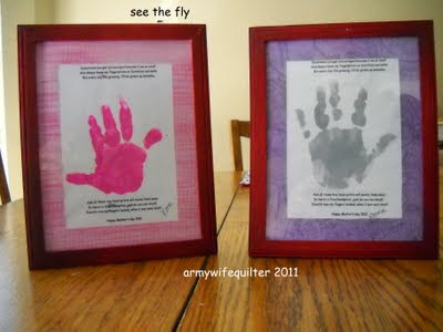 Army Wife Quilter: Mothers day project with mommy and me