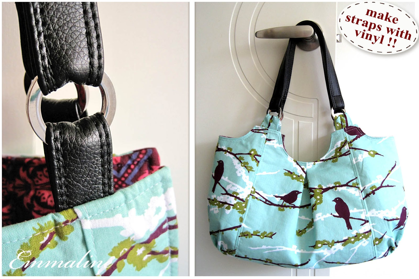 Make Your Own Vinyl Leather Look Handbag Straps A Tutorial