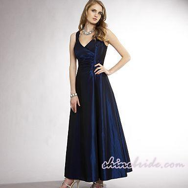 Wedding Gallery: V-neck Taffeta Vera Wang Evening Dresses