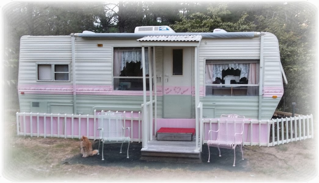 Travel trailer renovation painting the exterior of a travel trailer - Paint for mobile homes exterior ...