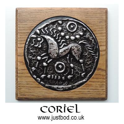 Coriel hand sculpted celtic coin plaque