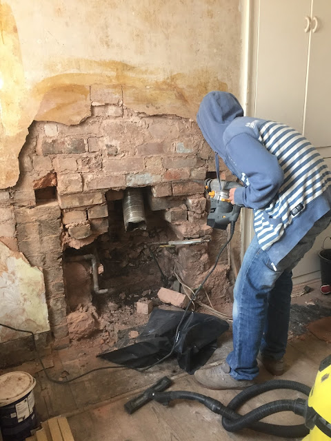 installing a lintel in a chimney