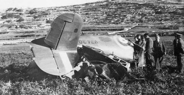 28 March 1941 worldwartwo.filminspector.com Hurricane Malta shot down