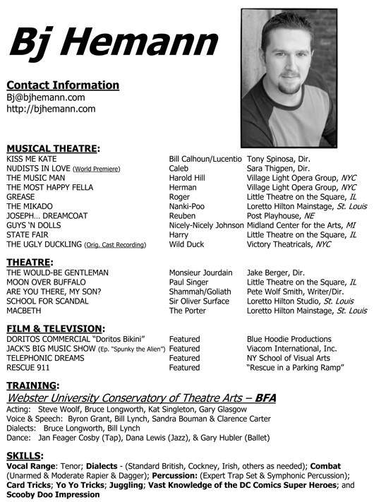 actor resume exles - acting cv 101 beginner acting resume exle - professional actor resume