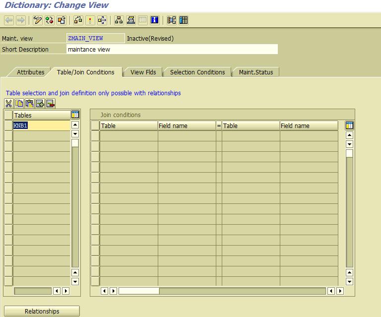 SAP Technical: Create a Maintenance view in ABAP