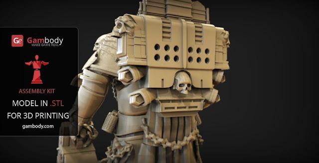 Chaplain Warhammer40k 3D figure