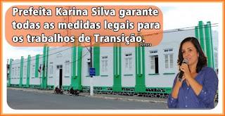 AMARGOSA: Prefeita Karina Silva garante todas as medidas legais para  os trabalhos de Transição
