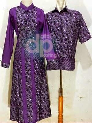 Model Baju Gamis Batik Couple Lebaran Terbaru 2017