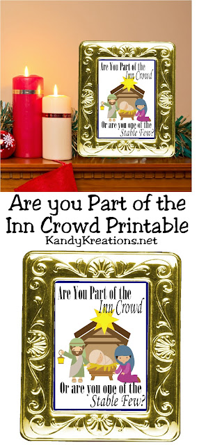 Are you part of the Inn Crowd this Christmas? If so, print and share this fun free printable that would make a beautiful Christmas gift or decoration for your Christmas mantel.