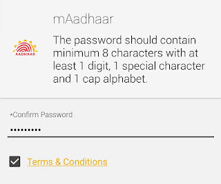 mAadhar app password creation