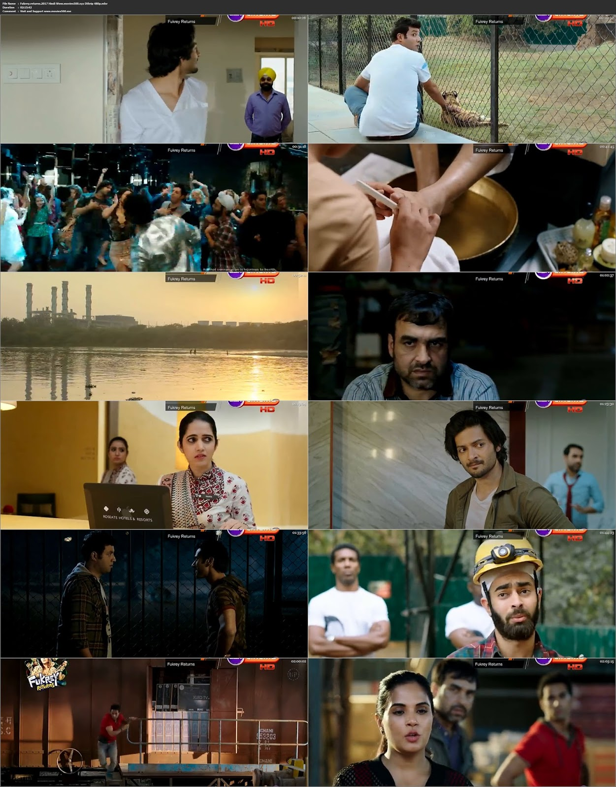 Fukrey Returns 2017 Bollywood 300MB DTHRip 480p at movies500.site