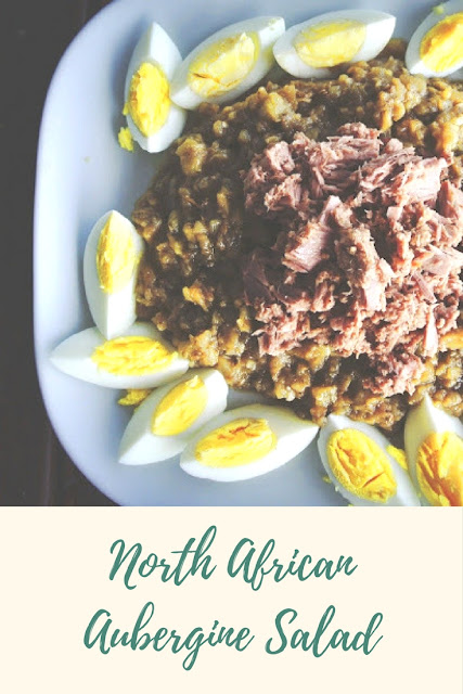 North African aubergine and tuna salad