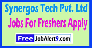 Synergos Tech Pvt. Ltd  Notification Recruitment 2017 Jobs For Freshers Apply