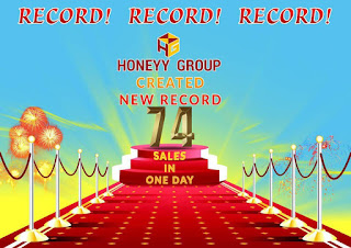 Record Sales at Honeyy Group
