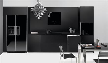 Electrodom sticos negros for Cocinas completas con electrodomesticos