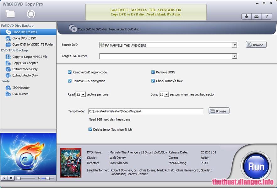 Download WinX DVD Copy Pro 3.9.0 Full Key