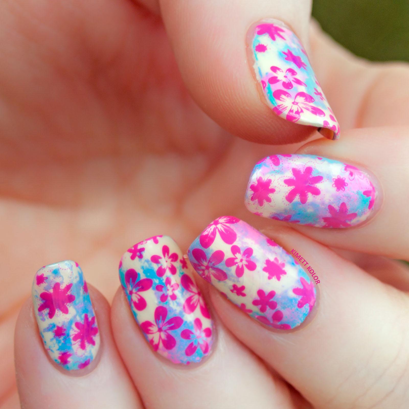 Kimett Kolor Spring Floral Nail Art