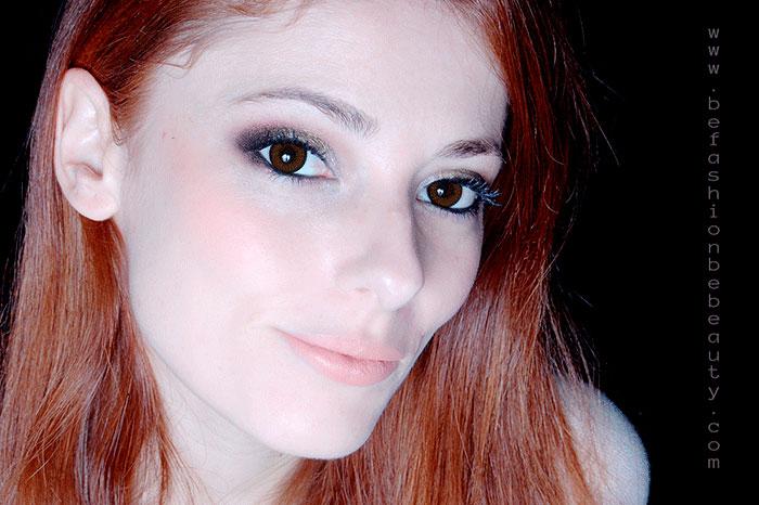 Maquillaje paso a paso : 011 | Maquillaje con brillo. Resultado.
