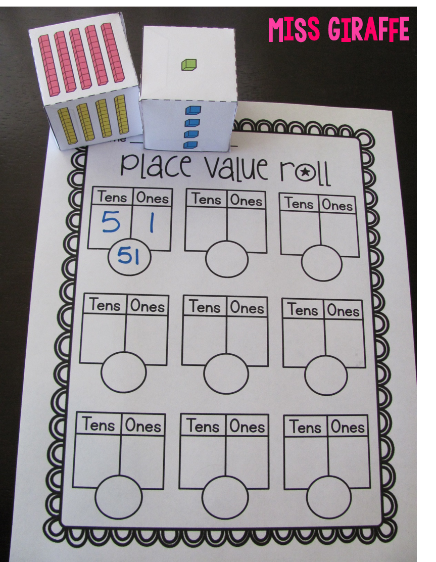 Place value first grade math centers and activities - lots of great ideas on this post