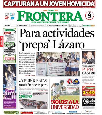 Frontera: Para actividades prepa