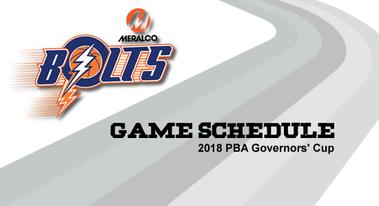 LIST: Meralco Bolts Game Schedule 2018 PBA Governors' Cup