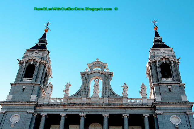 Belltowers, Almudena Cathedral, Madrid, Spain