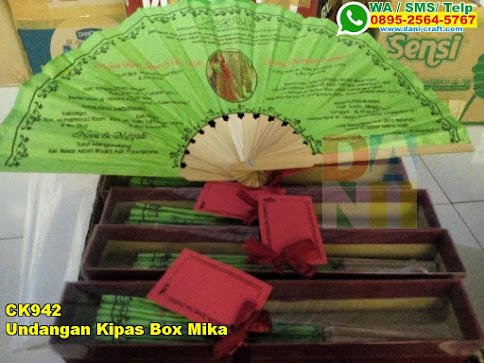 Undangan Kipas Box Mika