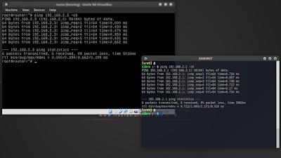 ping atar guest dan host dalam satu jaringan yang telah ditentukan alamat jaringan