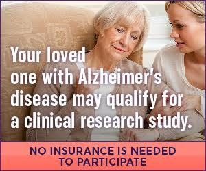 You may qualify for a clinical research study for Alzheimer's