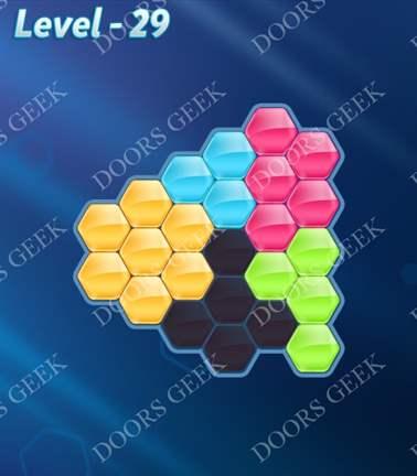 Block! Hexa Puzzle [Rainbow A] Level 29 Solution, Cheats, Walkthrough for android, iphone, ipad, ipod