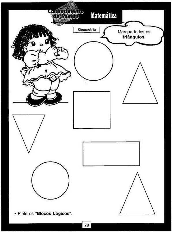 Educação Infantil: atividades com formas geométricas.