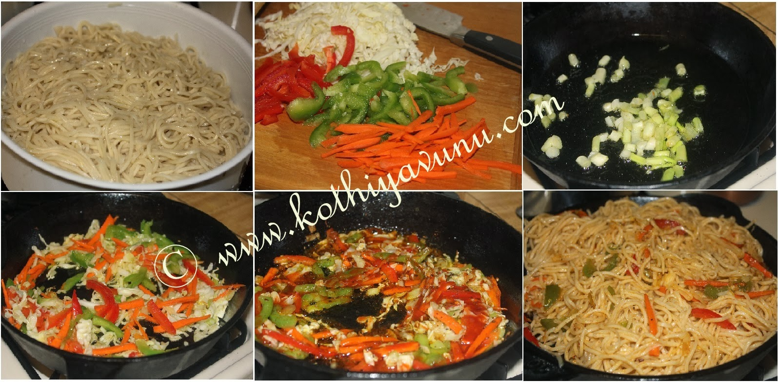 Vegetable Hakka Noodles Chowmein Recipe Restaurant Style