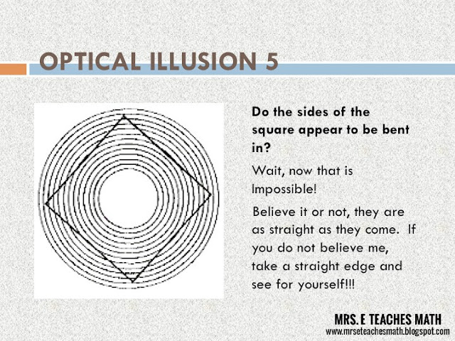 Mrs. E Teaches Math:  Using Optical Illusions in the Geometry Classroom - lesson plan with file downloads