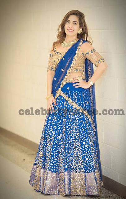 Sirisha Tatakula Blue Half Saree