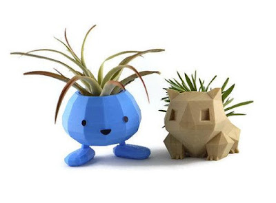 Bulbasaur and Oddish Planter