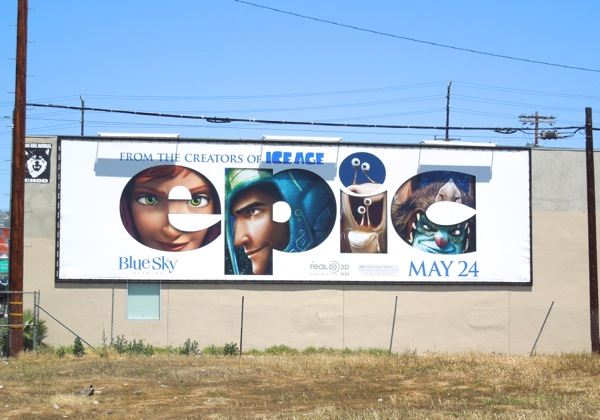 Epic animated movie billboard