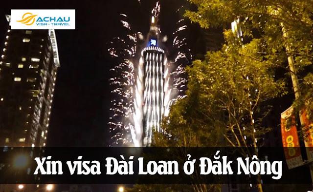 Xin visa Đài Loan ở Đắk Nông