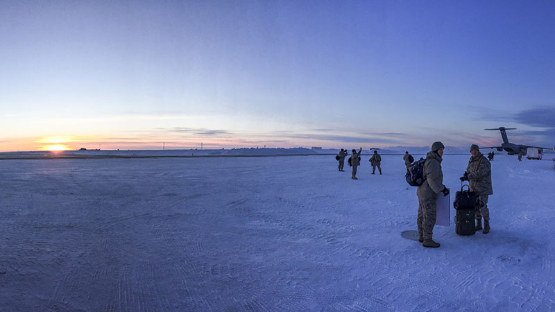National Guard troops in Utiqiagvik, Alaska (Credit: Pic: Staff Sgt. Balinda O'Neal Dresel/US Army National Guard) Click to Enlarge.