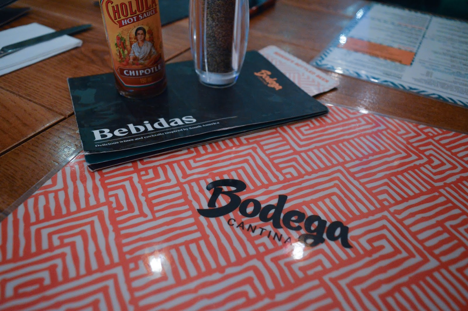 Bodega Cantina Menu Review
