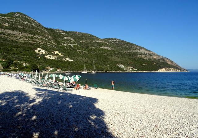 Pretty Pebble Bay Beach in Lefkada, Greece: Mikros Gialos Beach
