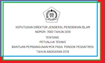 Juknis Bantuan Pembangunan MCK pada  Pondok Pesantren Tahun  JUKNIS BANTUAN PEMBANGUNAN MCK PADA  PONDOK PESANTREN TAHUN 2019