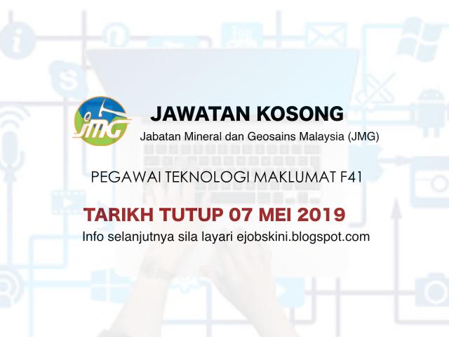 Jawatan Kosong Pegawai Teknologi Maklumat Gred F41 Tarikh Tutup 07 Mei 2019