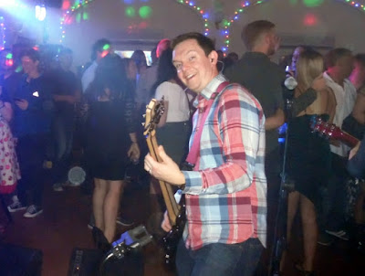 The Dirty Pitchers band playing a live gig in Brigg - see Nigel Fisher's Brigg Blog