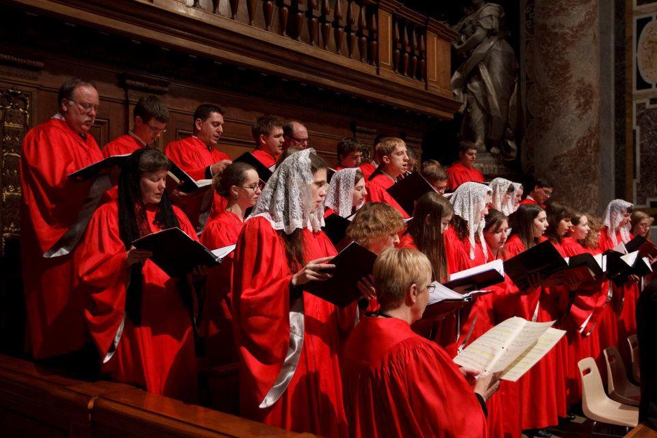 The Badger Catholic: Singing with mantillas