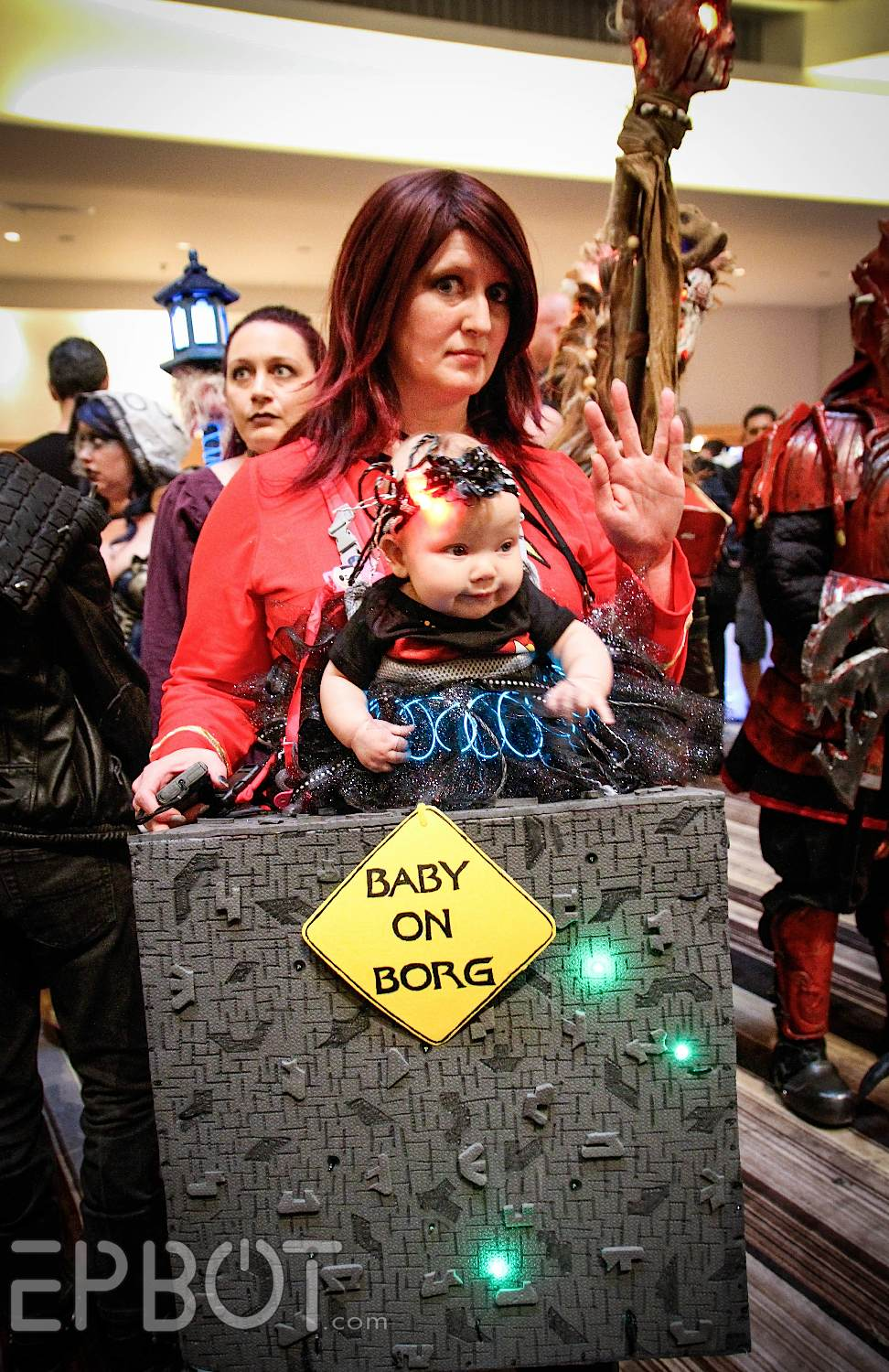 Borg baby! Voyager with captain Janeway and the Doc; it ...