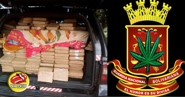 Sargento de la GNB capturado con 901 paquetes de marihuana y cocaína