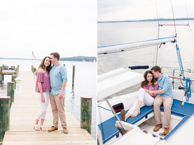 Engagement Photos in Downtown Annapolis and Cape St. Claire by Heather Ryan Photography