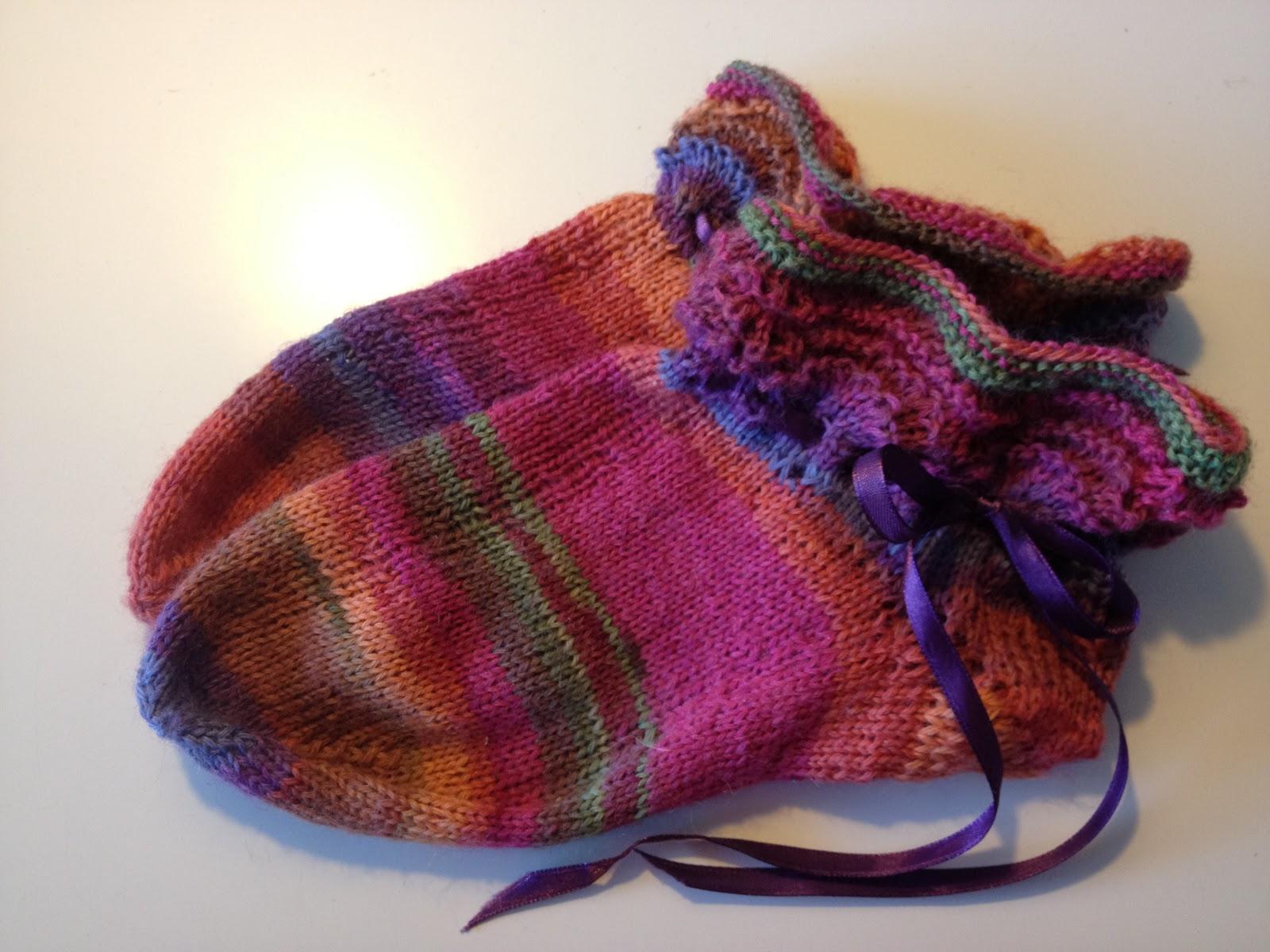 7c3293b7 Sweet Feet-strømper med hulmønster strikket i Bumbo-garn