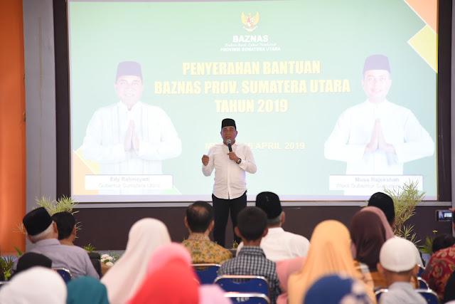Pemprov Sumut Serahkan Bantuan Program Baznas 2019
