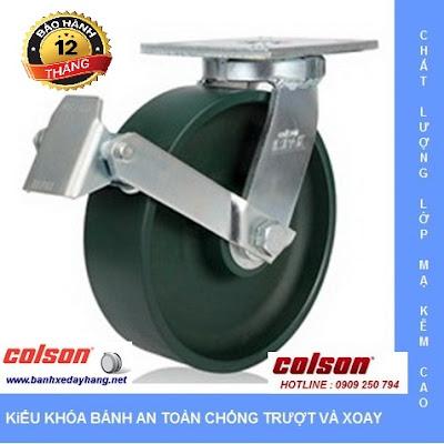 Giá bánh xe đẩy chịu tải trọng cao có khóa Colson Caster Mỹ www.banhxeday.xyz